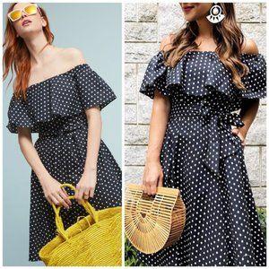 donna morgan ∙ lightweight polka dot dress